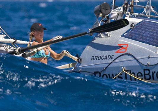 Roz Savage in big seas